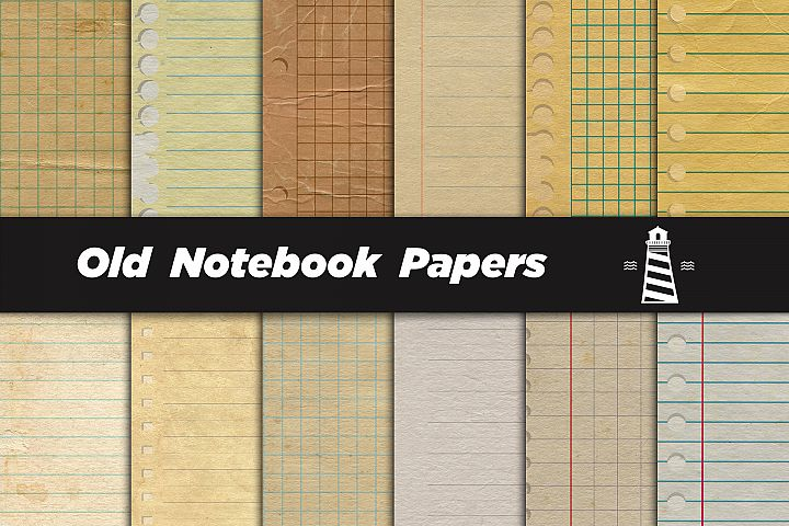 Vintage Notebook Digital Paper
