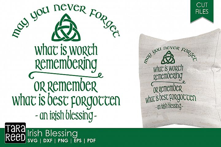 Irish Blessing SVG and Cut Files for Crafters