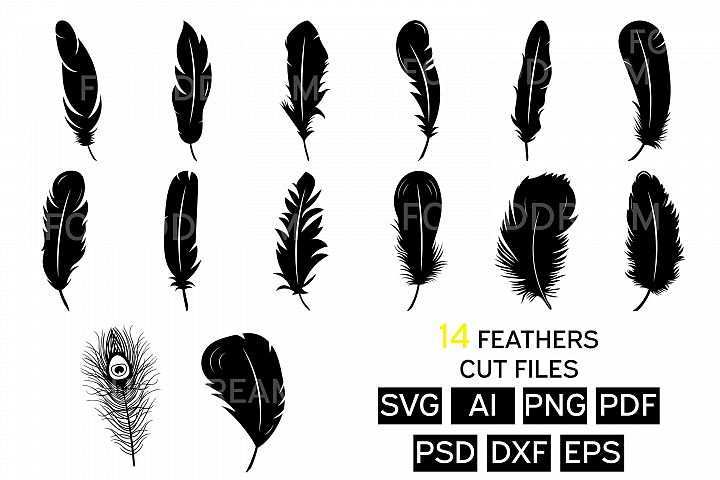 Feather Svg files | Feather Clipart