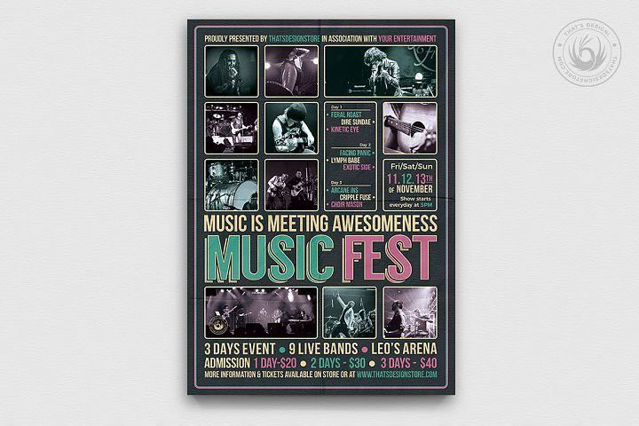 Music Festival Flyer Template V8
