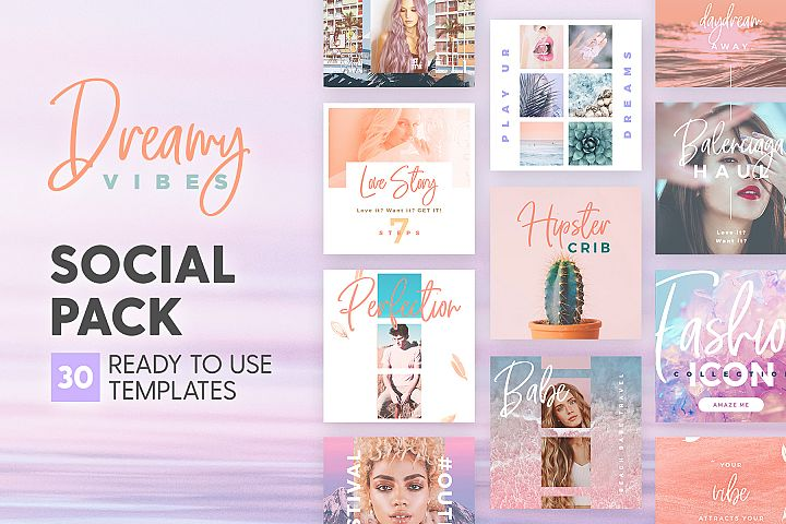 Dreamy Vibes - Social Pack
