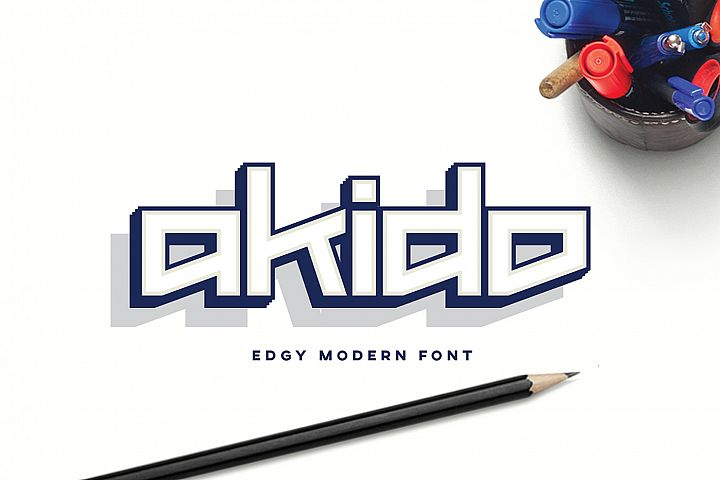 Akido Modern Edgy Font for Logotype and Wordmark