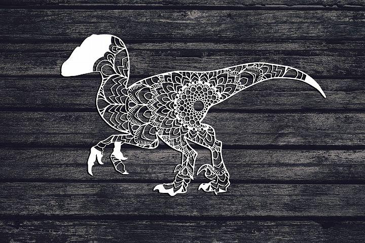 Mandala Raptor Svg, Dinosaur Svg, Velociraptor Svg, Boho