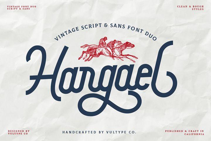 Hargael - Vintage Script Font