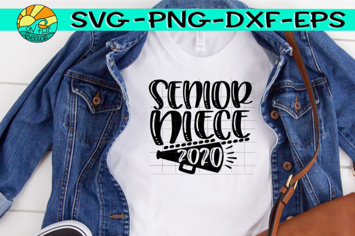 Cheer Niece Senior 2020 - SVG PNG EPS DXF