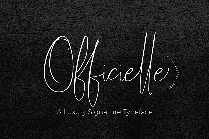 Officielle | Lovely Signature Font