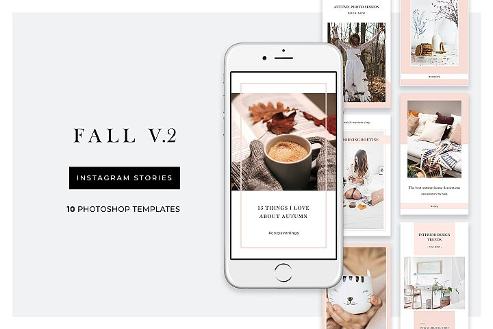 Fall Instagram Story - 10 Photoshop templates