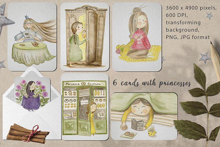 Hand-drawn princesses