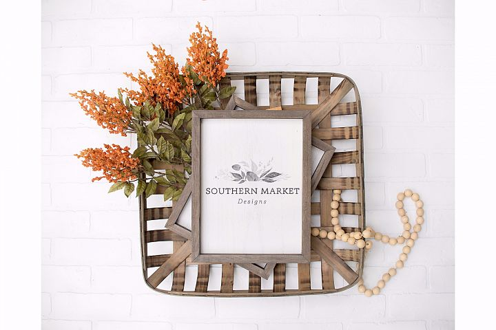 Fall Wood Framed Sign 9x12 Mock Up Photo Stock Photography