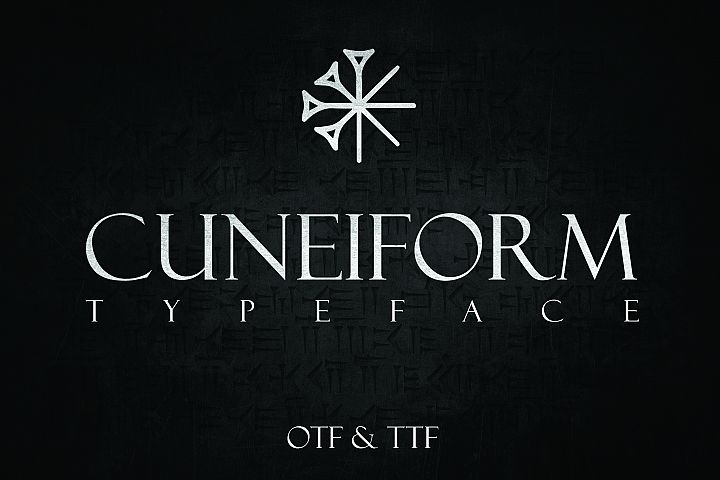 CUNEIFORM, An Ancient Typeface
