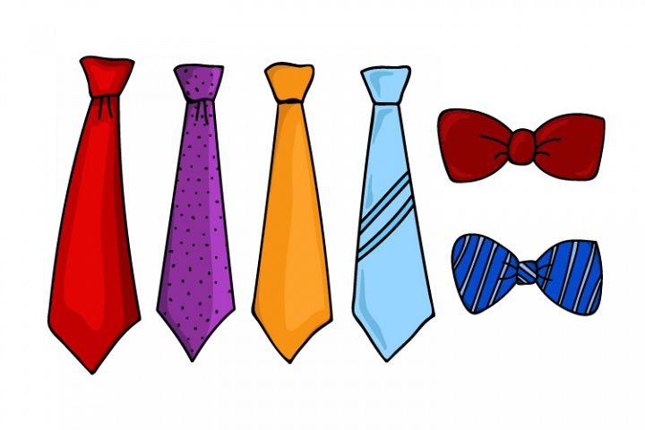 collection of tie vector designs