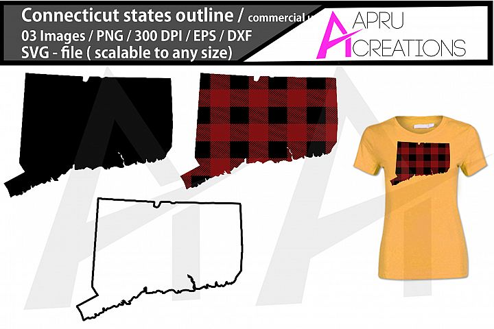 connecticut vector map / connecticut outline / connecticut p