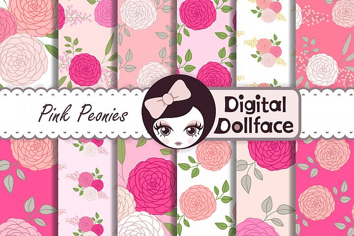 Pink Peonies Patterns