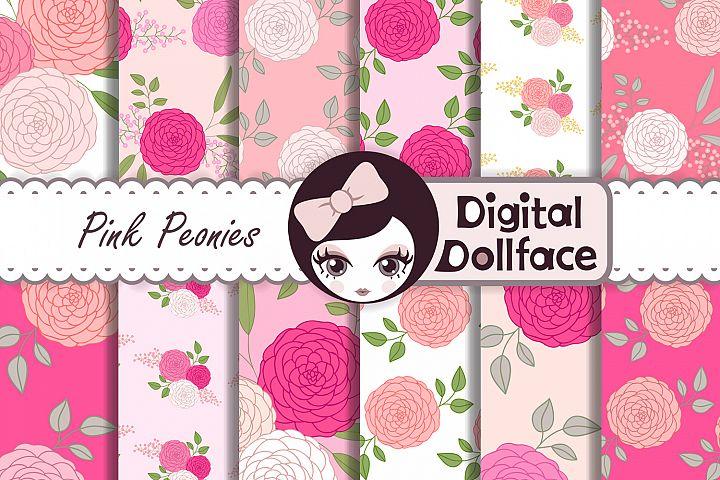 Pink Peonies Patterns