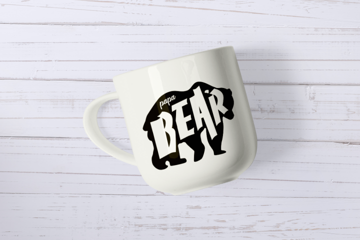 Father's Day SVG Cut Files - Papa Bear example 2