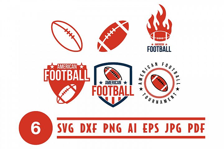 American football logo design template vector