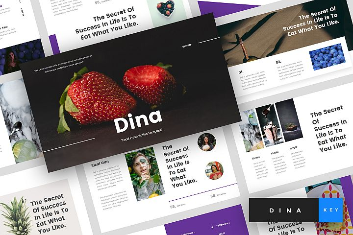 Dina - Food Keynote Template