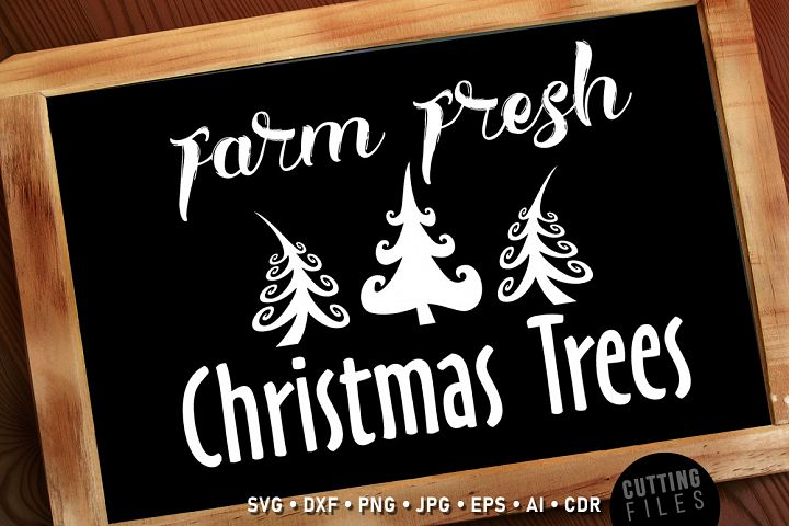Farm Fresh Christmas Trees - Sign