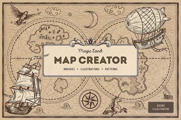 Magic Lands Vintage Map Creator