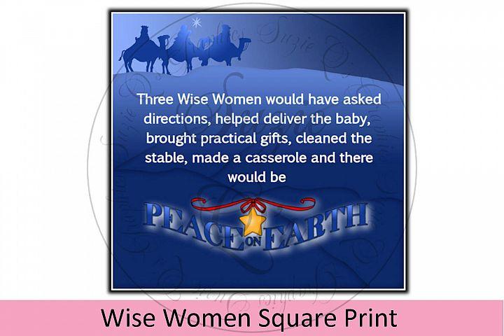 Wise Women Square Print