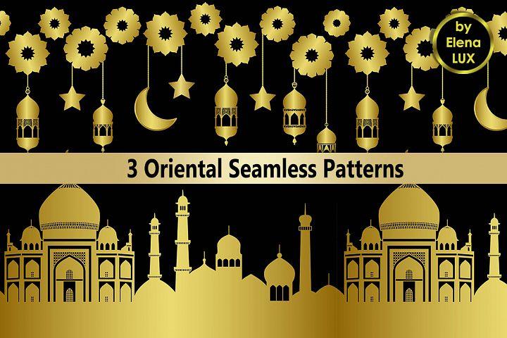 Arabic Golden Seamless Set