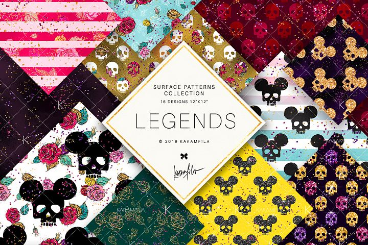 Fashion Skulls Patterns