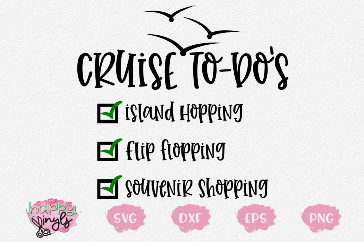 Cruise To Dos - A Cruise SVG