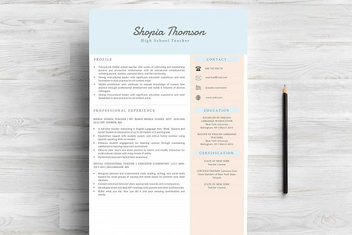 Professional Resume Template Word - Free Design of The Week Design1