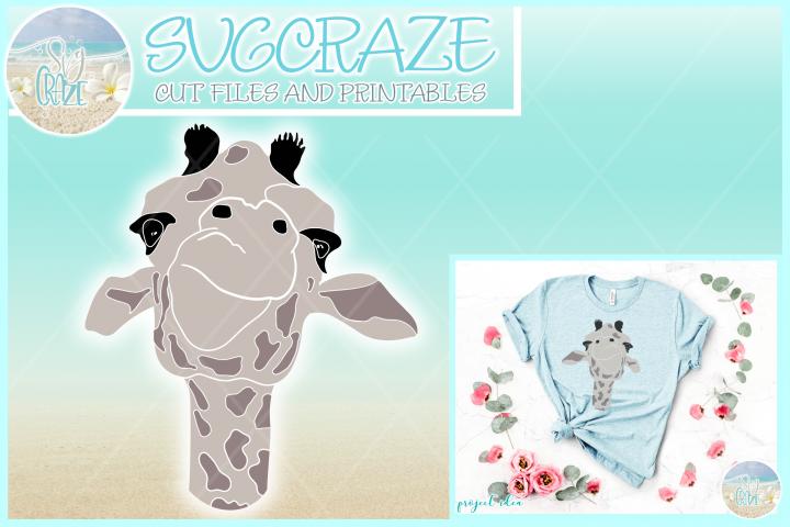 Cute Giraffe Face Svg Dxf Eps Png Pdf Files For Cricut