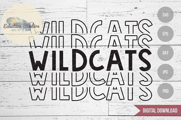 Wildcats SVG, Sports Team Mascot Name, School Pride SVG