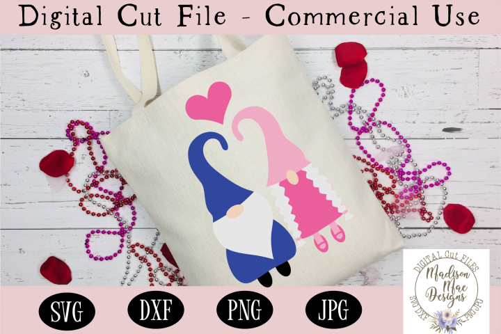 Love Gnomes with Heart SVG, Valentines Day SVG