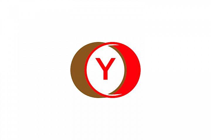 y letter circle logo