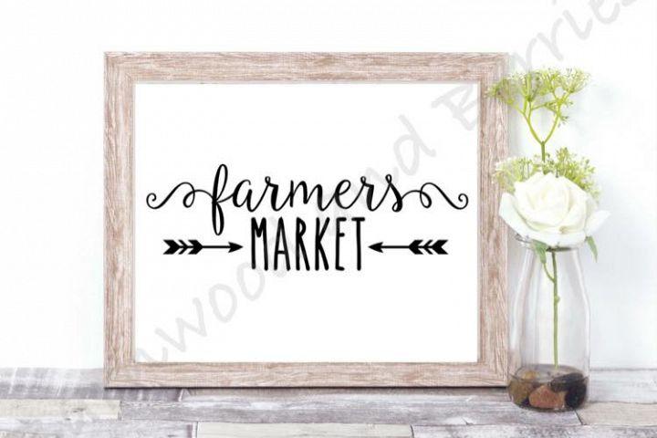 Farmers Market SVG/DXF