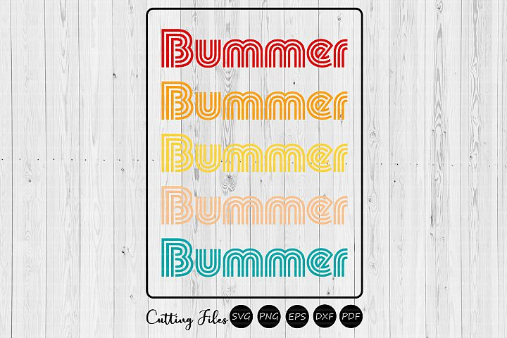 Bummer | Retro T-Shirt Design |