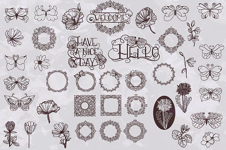 Papercut Nature Bundle SVG - Free Design of The Week Design3