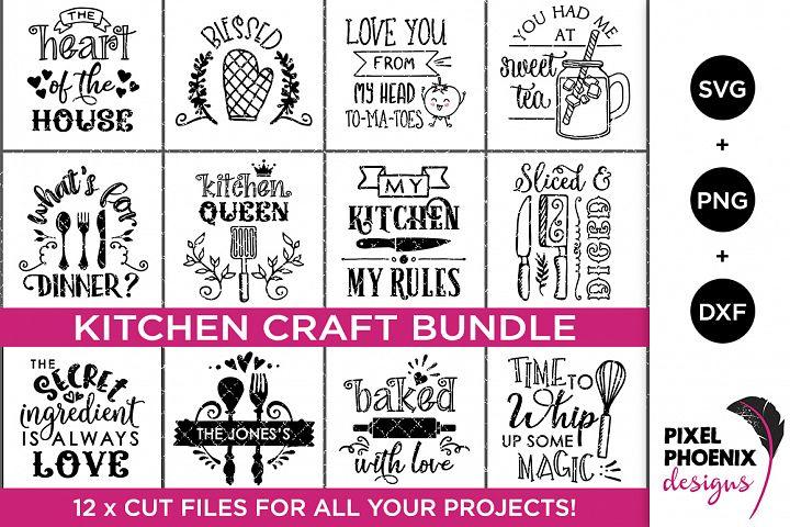 12 x Kitchen Craft SVG Bundle