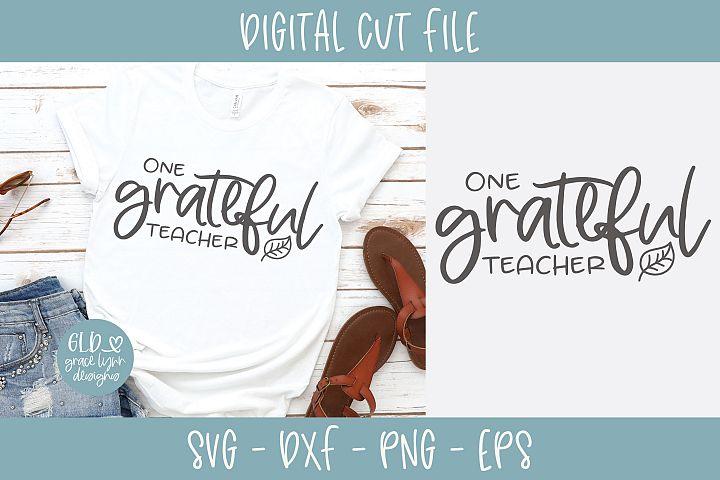 One Grateful Teacher - SVG
