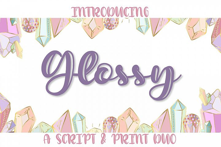 Glossy Duo - A Script & Print Highlight Duo