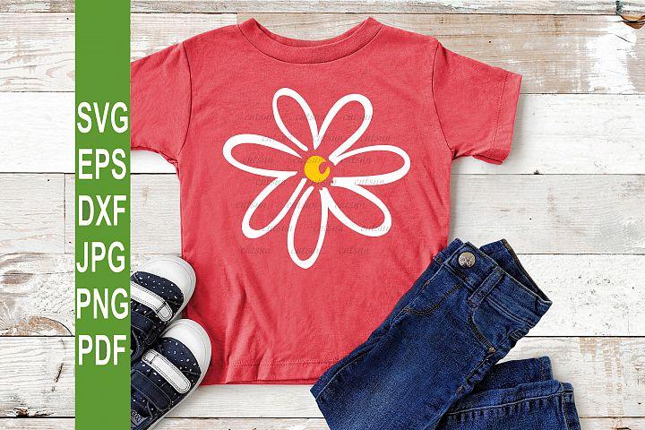 Flower SVG | Hand drawn flower SVG | Daisy SVG file