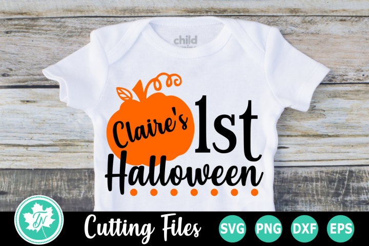 1st Halloween - A Halloween SVG Cut File