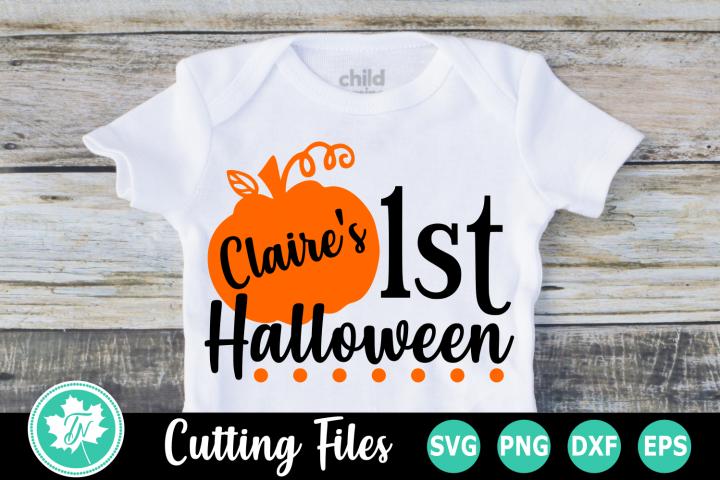 1st Halloween - A Halloween SVG Cut File