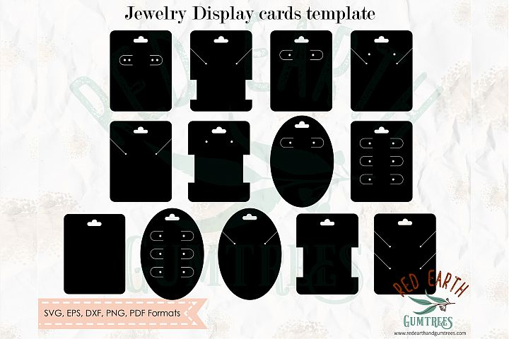 Jewelry display card holder bundle jewellery,SVG,DXF,PNG,EPS