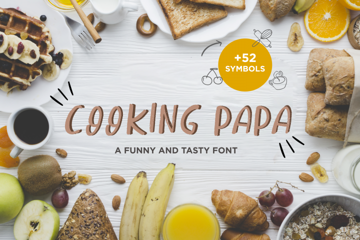 Cooking Papa - handwritten font