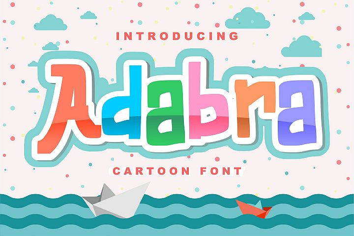 Adabra | Decorative Cartoon Font