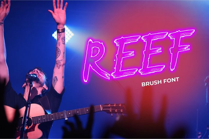 REEF Brush Font