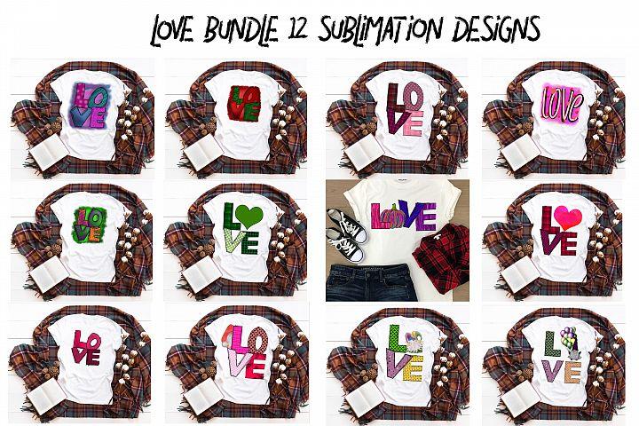 LOVE bundle 12 sublimation designs