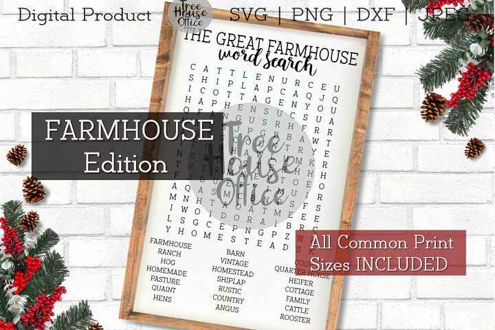 Farmhouse Bathroom Forget Your Phone Word Search SVG PNG JPG