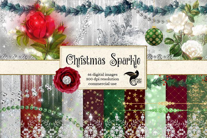 Christmas Sparkle Digital Scrapbooking Kit