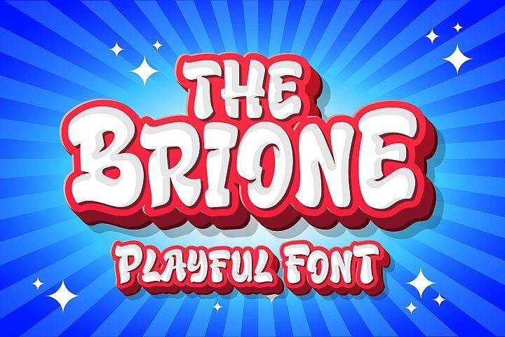 Brione - Playful Font