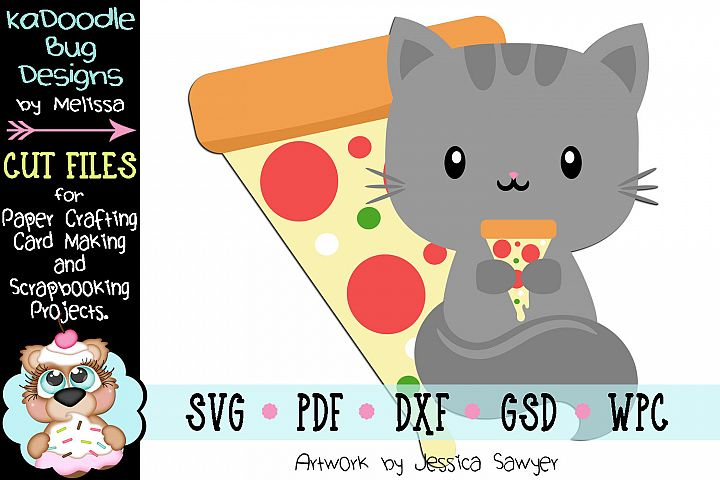 Pizza Kitty Cut File - SVG PDF DXF GSD